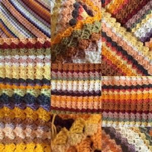 Collage of Sunflower Crochet